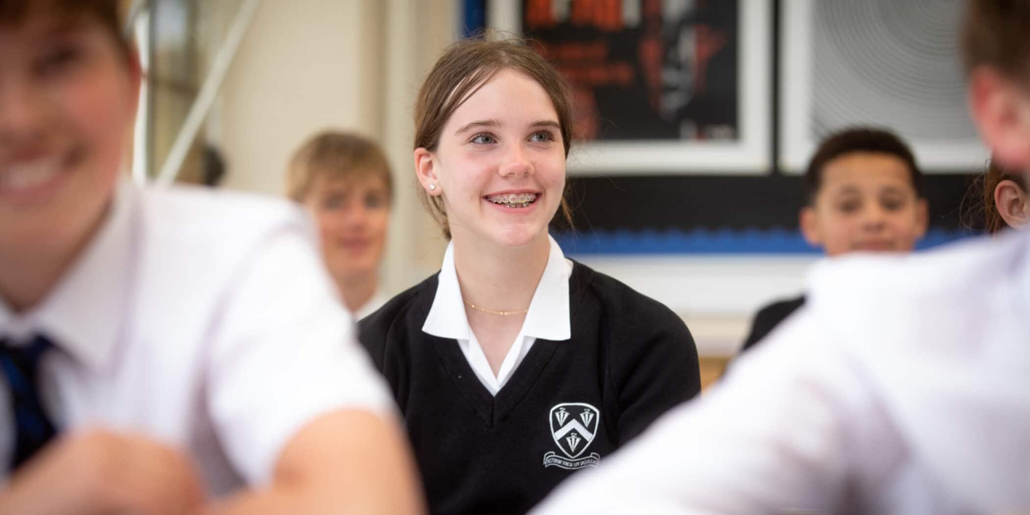 Bloxham school student welcoming smile