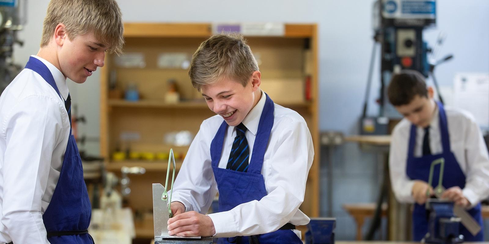 Lower School pupils working in DT