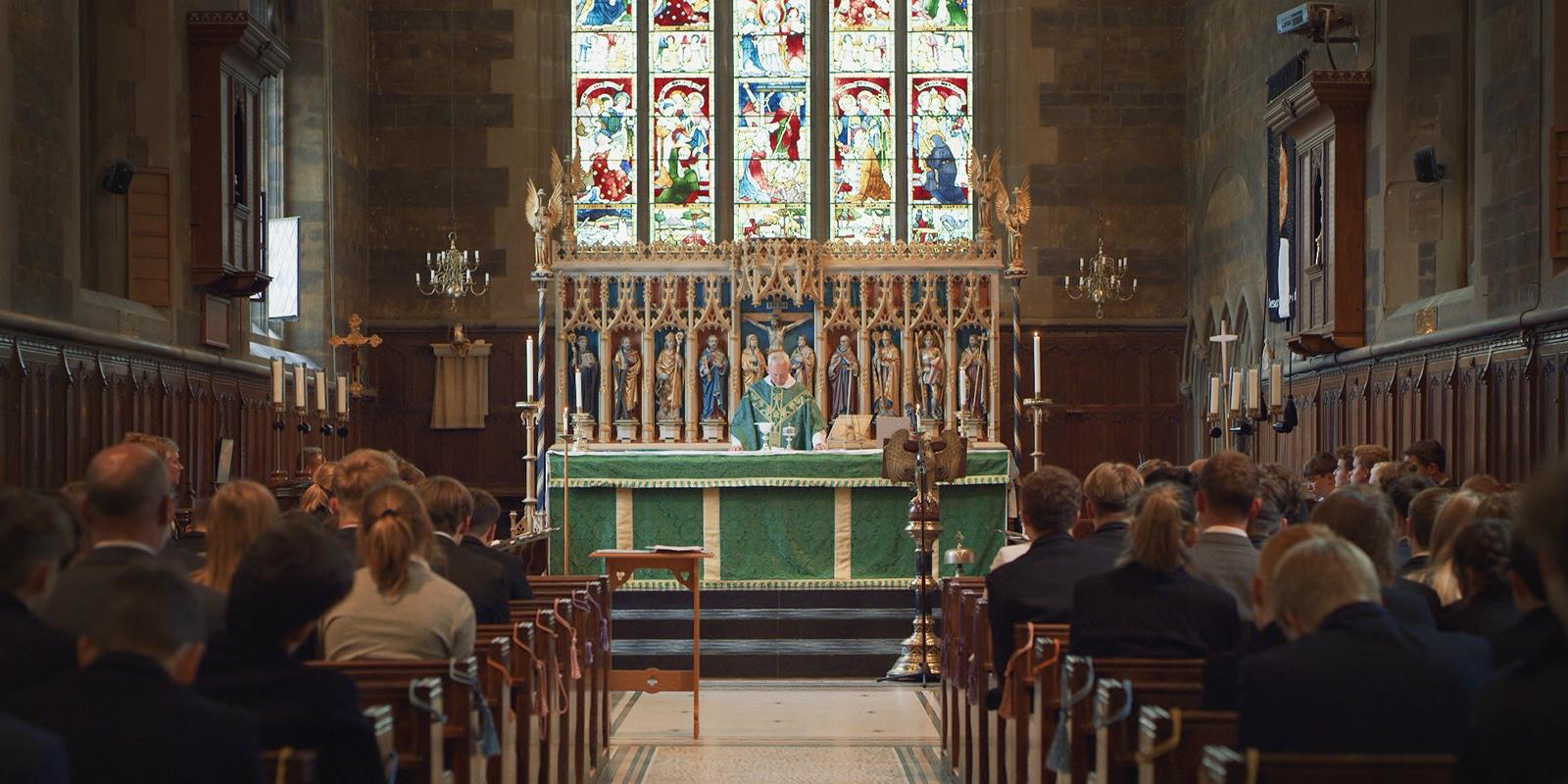 Eucharist Service in Bloxham Chapel; Christianity