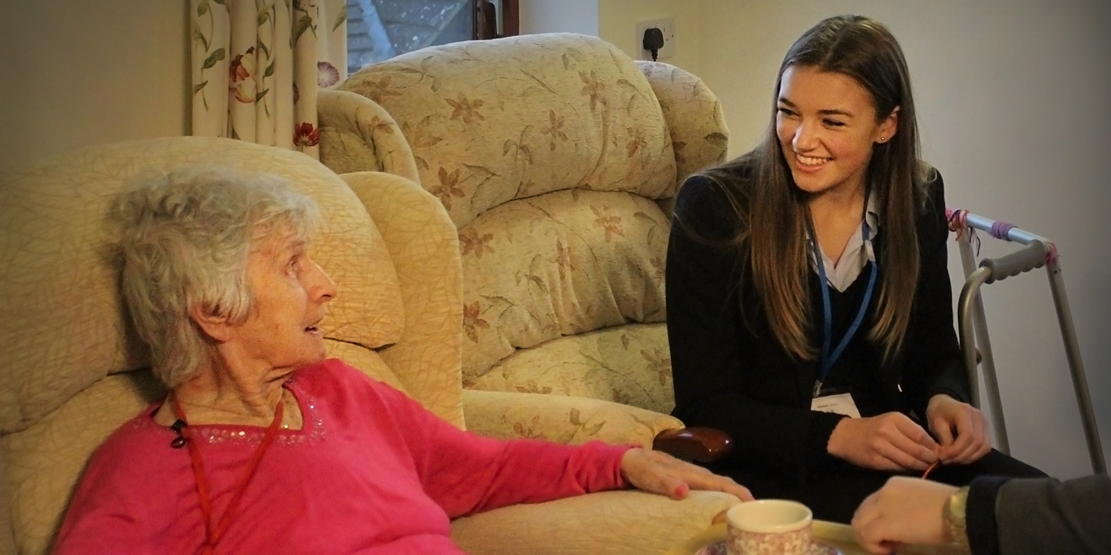 A Sixth Form Student Visiting a Care Home, being of service
